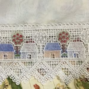 3 sheer lace sheer curtain toppers
